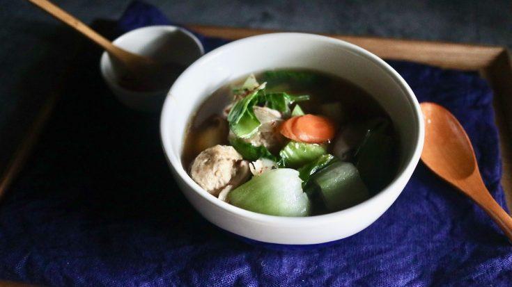 つくね入り野菜スープ